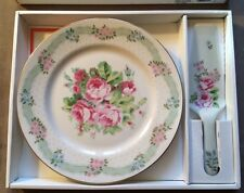 Nib Andrea By Sadek 15301 French Rose Bouquet 2 Piece Cake Set Made In Japan