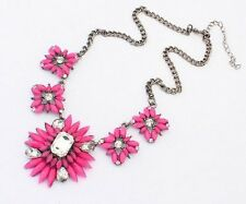 Statement Collier Blogger Kette Halskette Elegant Choker FARBEN bunt Blumen NEU