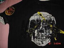 Mayheim Scull Guitar Band Concert Black T Shirt-M