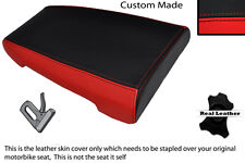 RED AND BLACK CUSTOM FITS DUCATI 888 REAR LEATHER SEAT COVER