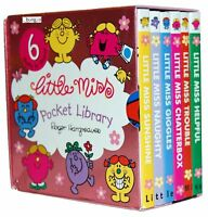 Little Miss Pocket Library 6 Board Books Collection Set