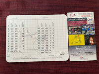 Adam Scott  Signed Masters Golf Tournament Scorecard Autographed JSA COA AUTO