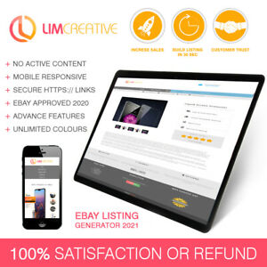eBay Template Listing Auction Responsive mobile design html 2021 Professional