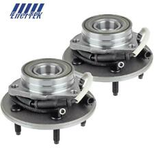 Pair Front Right Left Wheel Hub Bearing Set for Ford F150 4-Wheel ABS 1997-1999