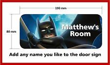Lego Batman Door Plaque - Personalised Childrens Bedroom Sign Boys Girls