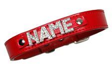Hundehalsband mit Namen Strassbuchstaben Hund Halsband Name Leder Hundenamen