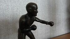 *REDUCED*  FLYWEIGHT WORLD CHAMP JIMMY WILDE 1920s BRONZE BOXING STATUE FIGURINE