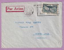 N°321 SEUL SUR LETTRE PARIS AVION 1936 BUENOS AIRES ARGENTINE LETTRE COVER