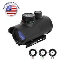 1X30mm 5 MOA Red Dot Sight Reflex Rifle Scope FMC Lens with 22mm/11mm Rail Mount