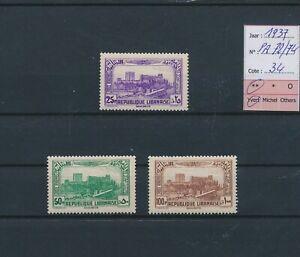 LO66050 Lebanon 1937 airmail monuments fine lot MNH cv 34 EUR