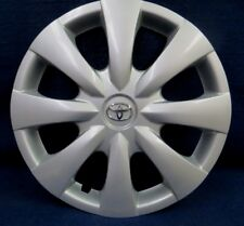 "TOYOTA COROLLA 09-13 15"" 8 SPOKE SILVER WHEEL COVER WITH CHROME EMBLEM - 1 - OEM"