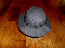 BLACK BOONIE HAT COTTON RIP-STOP HOT WEATHER TYPE II SIZE 7 3/4