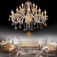 Crystal Elegant Glass Chandelier 6-15 Light Pendant Ceiling Lighting Fixture US