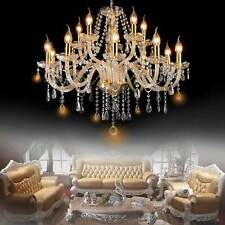 Elegant Crystal Glass Chandelier Pendant Ceiling Lighting Fixture 8-15 Light USA