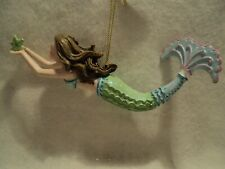 "Kurt S Adler RESIN ""GREEN AND BLUE MERMAID ORNAMENT"" ~ NEW ~ BEAUTIFUL"