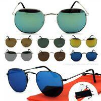 Herren Nickelbrille Sonnenbrille Oval Panto Metall Rahmen Eckig Rennec PTO1