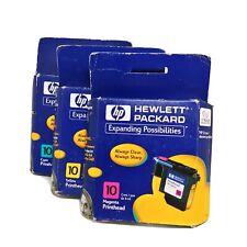 HP 10 Printer Ink Cartridge Color Magenta Cyan Yellow c4843a 2000c 2500c Lot