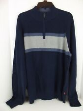 IZOD Pullover Sweater Men's 1/4 Zipper  Sz. XL