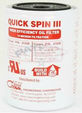 Crown 41436 Quick-Spin III 10 Micron High Efficiency Spin On Oil Filter Element