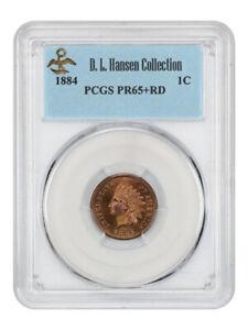 1884 1c PCGS PR 65+ RD ex: D.L. Hansen - Indian Cent - Fantastic Gem Proof