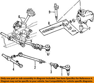 FORD OEM 00-07 E-350 Super Duty Steering Gear-Outer Tie Rod End 6C2Z3A131C