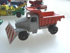 Ancien LESNEY MATCHBOX NO 16-Scammell snow plough truck- regular wheels -