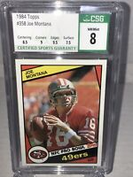 1984 Topps Football Card #358 Joe Montana CSG 8 San Francisco 49ers High Subs