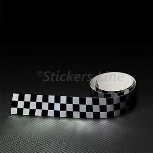 Fascia adesiva striscia a Scacchi NERO + GRIGIO ARGENTO cm 115 X 10 scacchiera