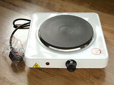 RS-PRO 1500 watt electric single ring cooker portable hotplate hob new white