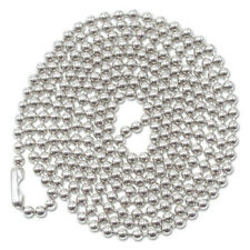 Advantus 75417 100 Pc Ball Chain 36 In Id Badge Holders Nickel Plated New