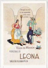 Reproducción antigua publicidad MANZANILLA LEONA