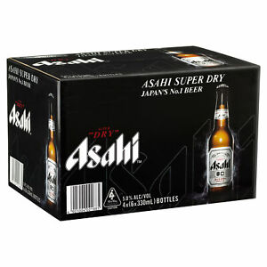 Asahi Super Dry Beer Case 24 x 330ml Bottles