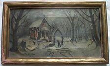 antique folk art painting