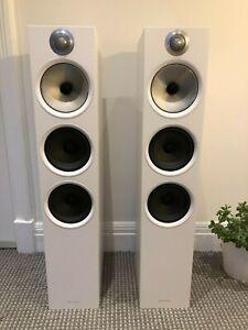 Bowers & Wilkins B&W 603 White Floor Standing Speakers - Pair