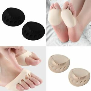 High Heels Ease Pain Five Toes Forefoot Pads Half Insoles Toe Pad Insert