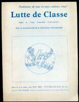 REVUE LUTTE DE CLASSE N°13. MARS 1968. ANGLAIS/ FRANçAIS;