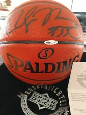 2018 UD Alonzo Mourning Autographed Basketball With COA
