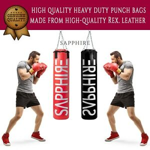 Punch Bag Filled or Empty Boxing Heavy Duty Punching Training Bag Chain 3-6 FT