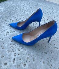 Manolo Blahnik 5'Blue Suede Pump Size 40.5