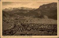 Garmisch Partenkirchen Bayern s/w AK ~1920/30 Gesamtansicht Blick von St. Martin