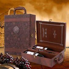 Wine Box Leather Holder Storage Handmade Home Decor Ornament Bucket Tray Craft