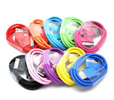 10 Colors in 1 Lot USB Data Sync Charger Cable iPhone 3/3S 4/4s iPod (BULK Pack)