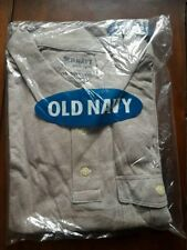 OLD NAVY MEN'S SHORT SLEEVE POCKET POLO SHIRT, BROWN HEATHER size XL