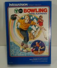 Mattel Intellivision Bowling 1980 Game, Box ,Manual x1 Overlay