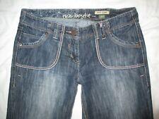 NEXT Boyfit Charcoal Dark Wash Distressed Jeans Size 14R W34 L29