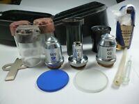 LOMO microscope lenses objective 40x 0,65 90x 1,25 8x 0,20box Eyepieces K7x K15x