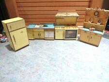 VTG Ideal Petite Princess  Dollhouse Furniture Set Kitchen with Accessories