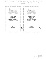 NEW HOLLAND TT60A TT75A TRACTORS SERVICE MANUAL