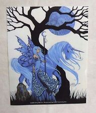 AMY BROWN Fantasy FAIRY Art FAERY Winter SOLSTICE Unicorn VINYL STICKER Decal
