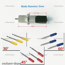 1pc Roland Blade Holder & 9pcs Cutting Blades 30 45 60 Degree For Vinyl Cutter